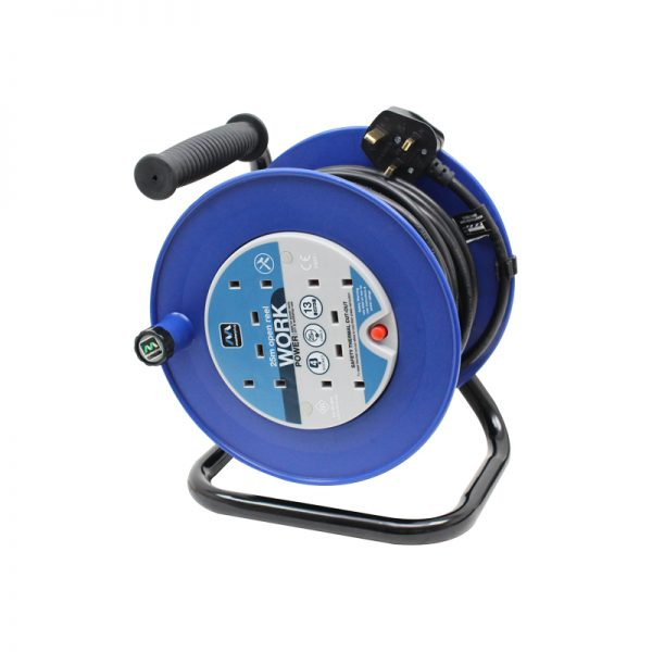 25m 13A 4 Socket Mains Extension Reel