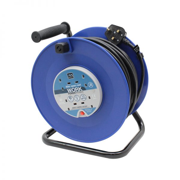 50m 13A 4 Socket HD Mains Extension Reel (HDCC5013/4BL)