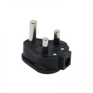 15A HD Round Pin Mains Plug, Black (HDPT15B)
