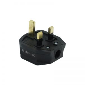 13A HD Mains Plug, Black (7B)