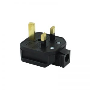 13A HD Mains Plug, Black (HDPT13B)