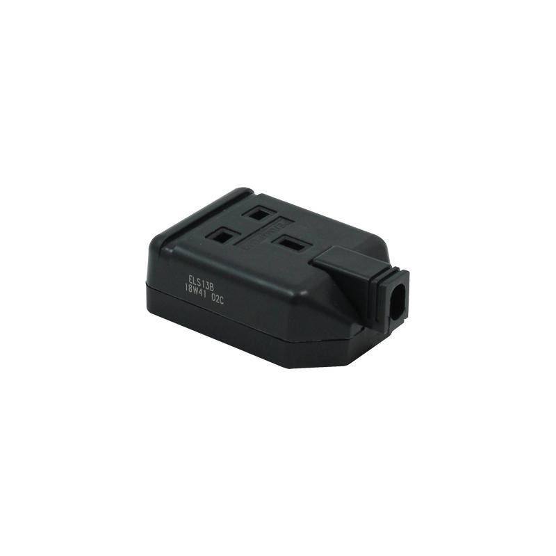 1 Gang 13A HD Mains Socket, Black (ELS13B)