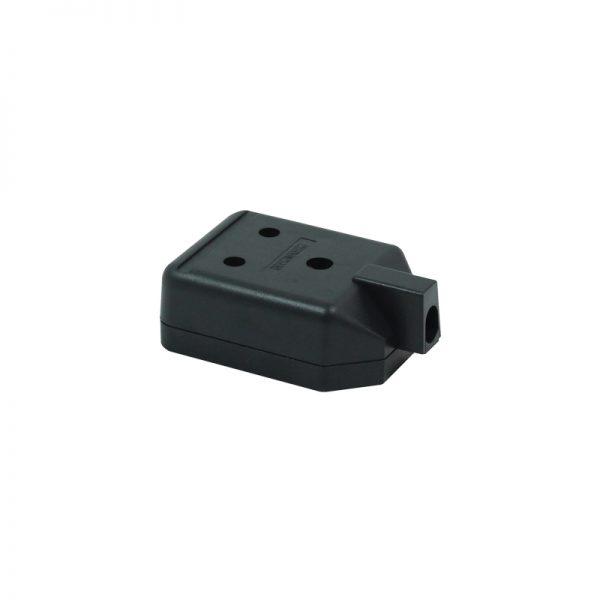 1 Gang 15A Round Pin HD Mains Socket, Black (ELS15B)