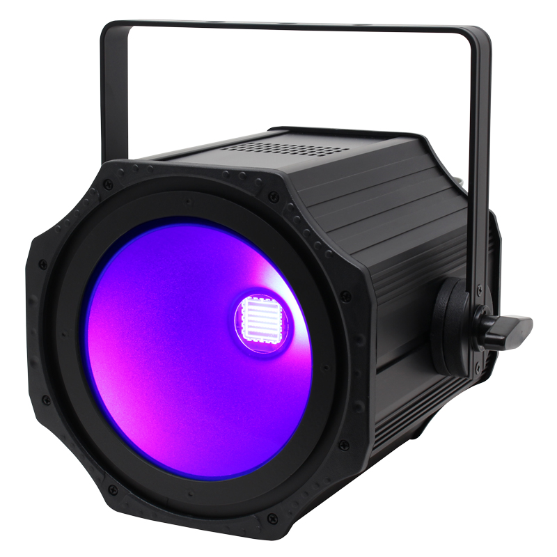 The 150W UV COB Flood is a rival to the Prolights STUDIOCOBUV and the Chauvet Ovation P-56UV
