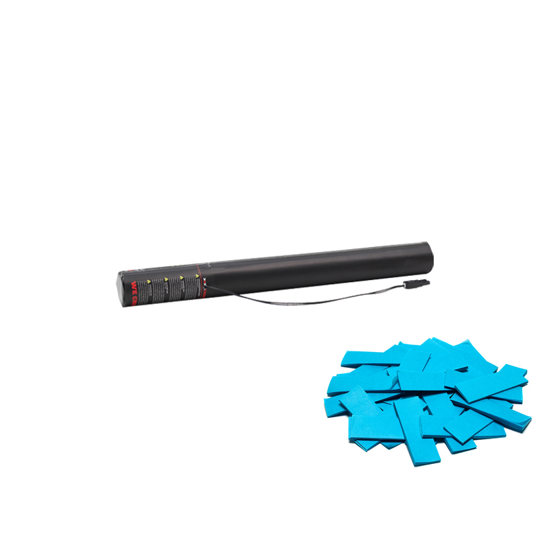 Electric Confetti Cannon 50cm Light Blue in colour and can be used in a variety of our confetti cannons