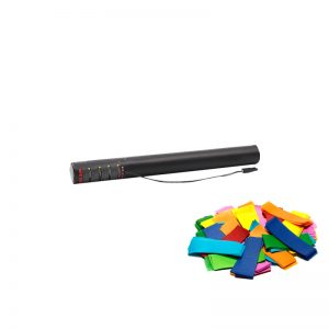 Electric Confetti Cannon 50cm Multicoloured confetti