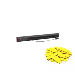 Electric Confetti Cannon 50cm pre-filled with Yellow slow fall confetti