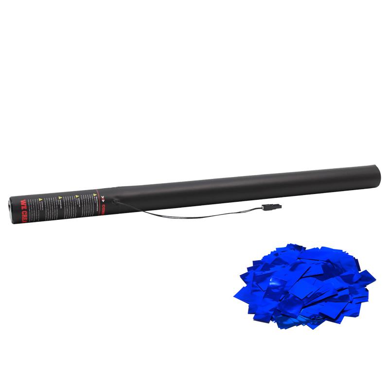 Electric Confetti Cannon 80cm filled with Blue Metallic confetti