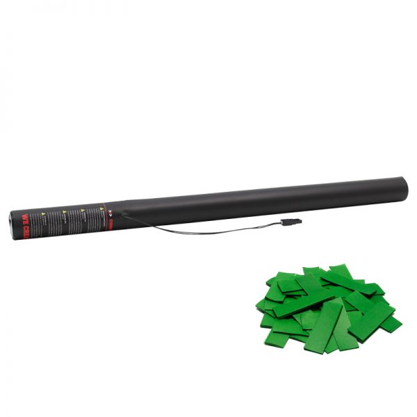 Electric Confetti Cannon 80cm Dark Green