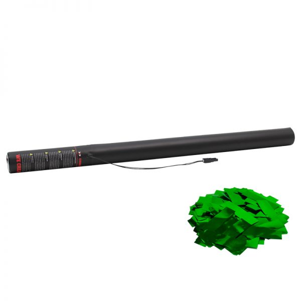Electric Confetti Cannon 80cm Met Green