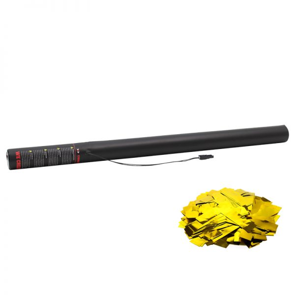 Electric Confetti Cannon 80cm Met Gold