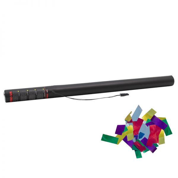 Electric Confetti Cannon 80cm Multicolour Metallic