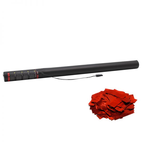 Electric Confetti Cannon 80cm Red Metallic