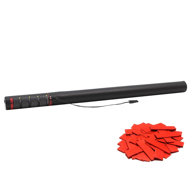 Electric Confetti Cannon 80cm Red slow fall confetti