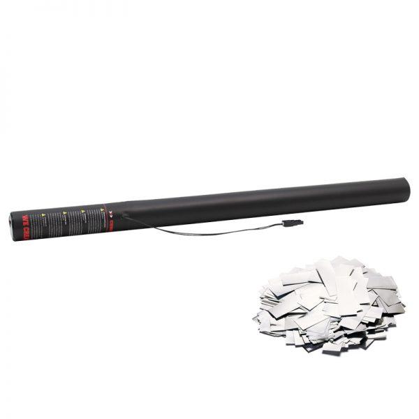 Electric Confetti Cannon 80cm Metallic Silver
