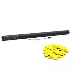 Electric Confetti Cannon 80cm Yellow in colour and can be used with confetti cannons