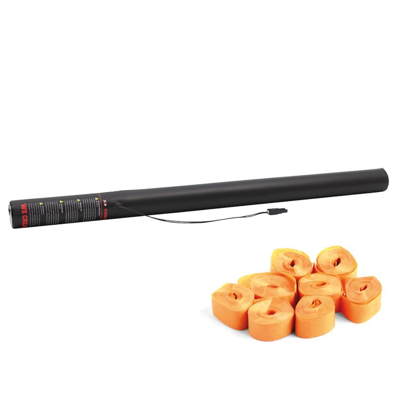 Pre-filled Electric Streamer Cannon 80cm Orange