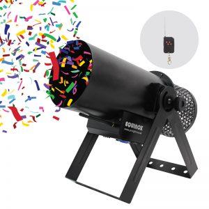 Confetti Burst - Confetti Cannon with close up of the remote control
