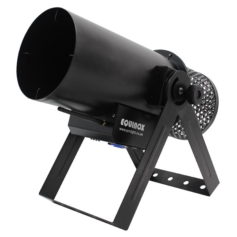 The Equinox Confetti Cannon is a powerful confetti launcher
