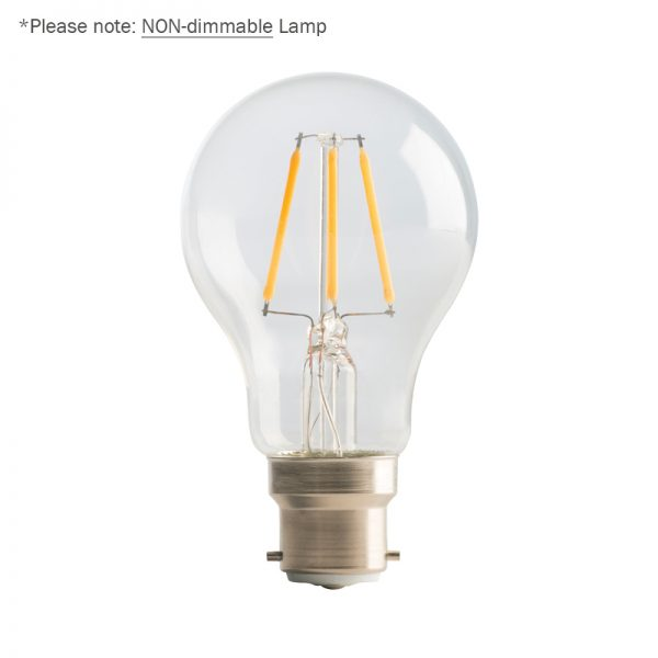 4W LED Clear GLS Filament Lamp ideal for use in our Festoon Lighting