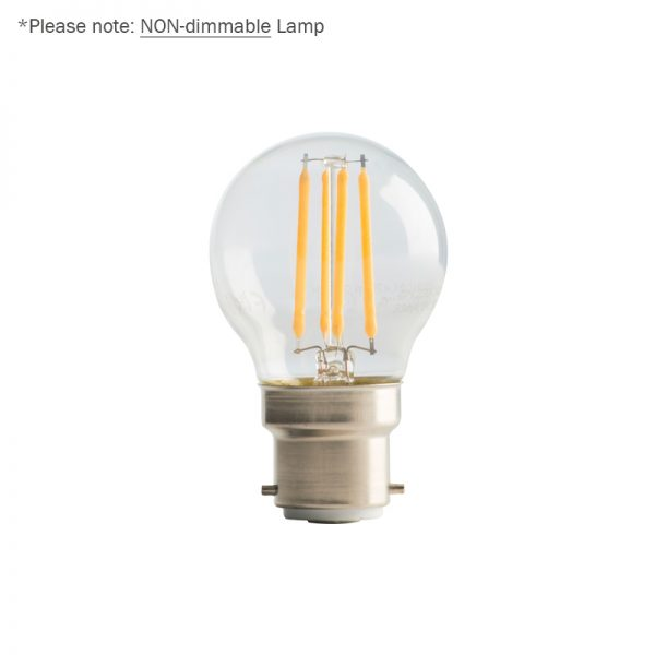 4W LED Clear Golf Ball Filament Lamp B22