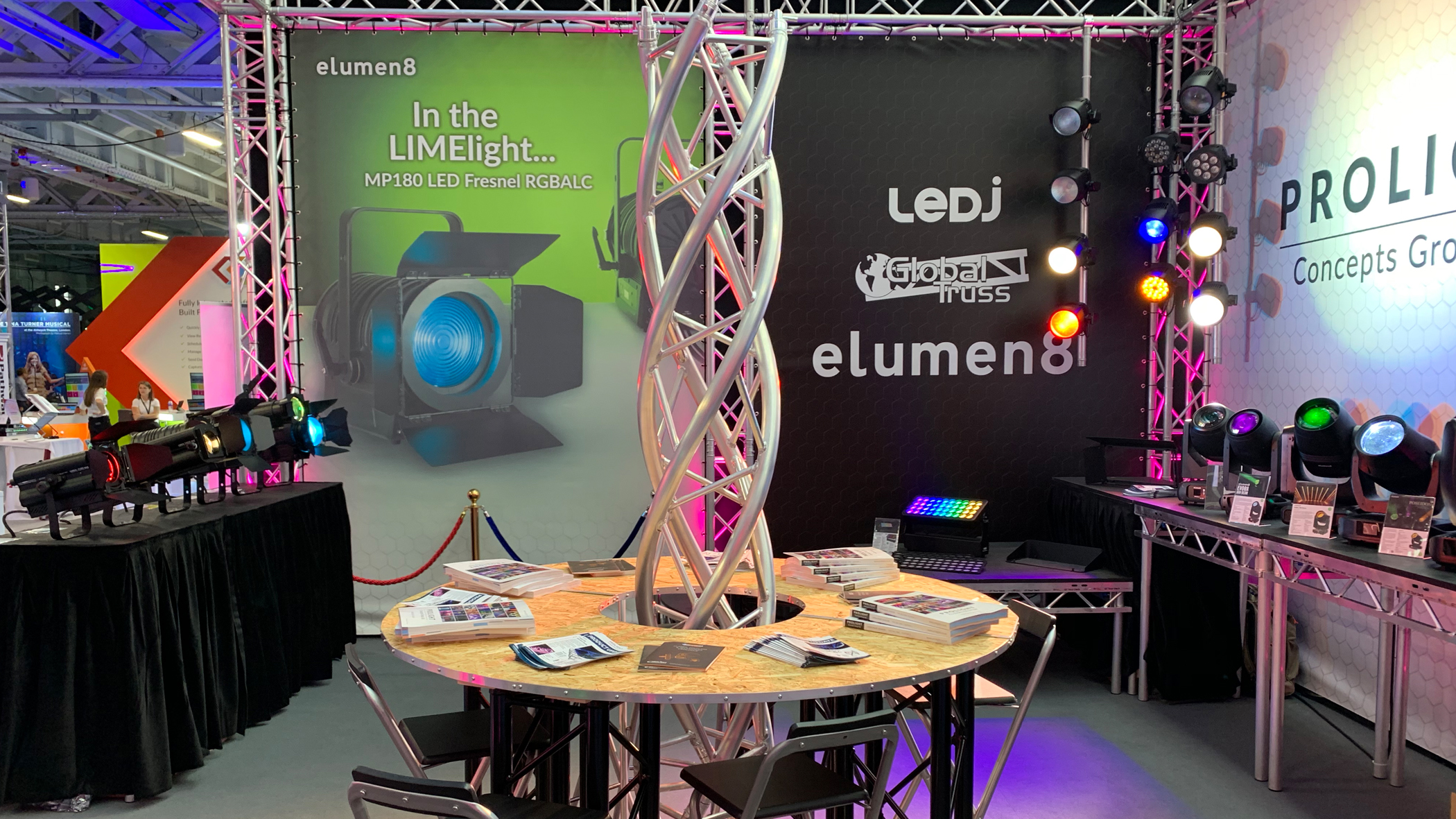 Prolight stand at Plasa