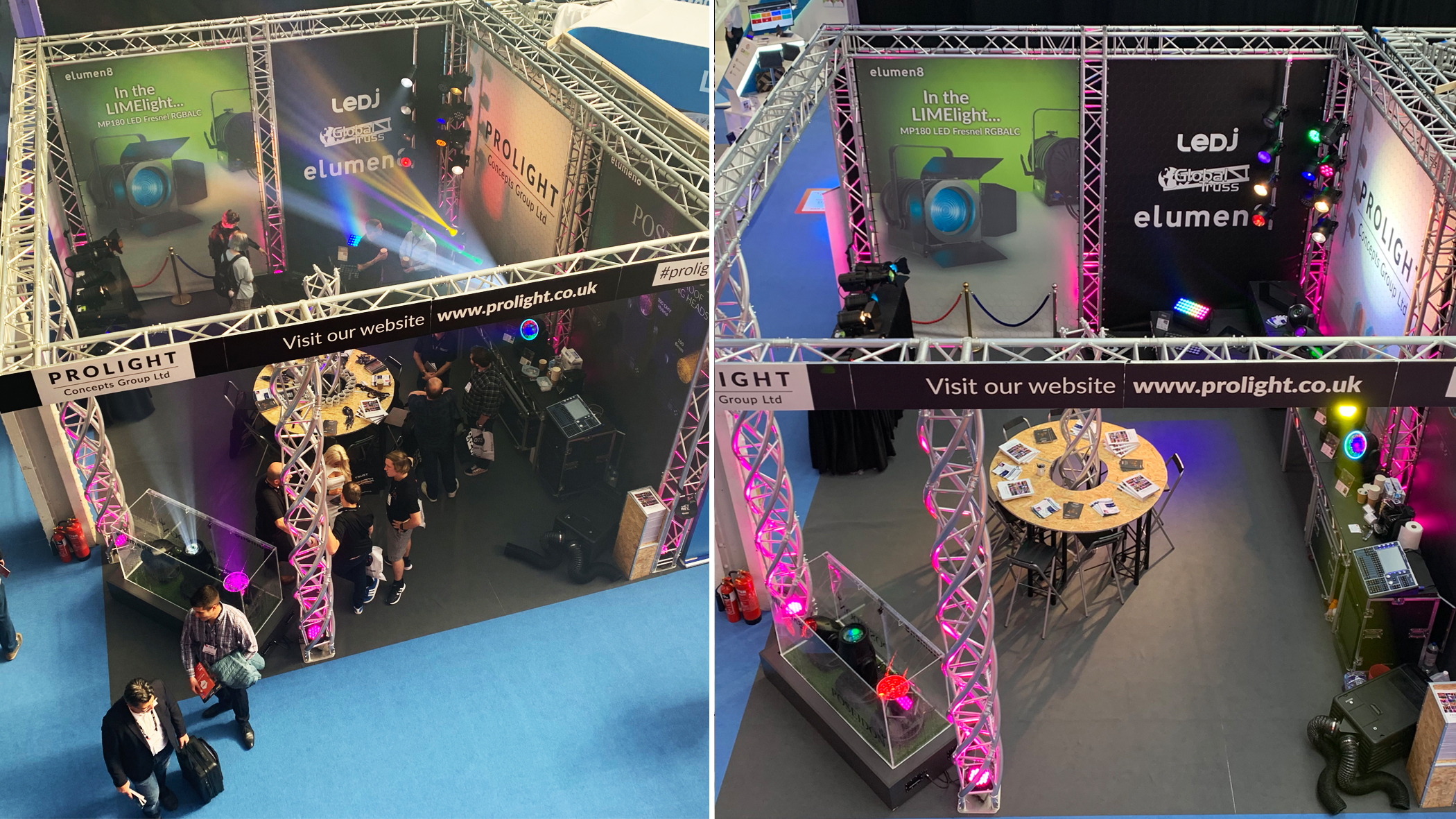 Prolight Concepts stand at PLASA, London 2019