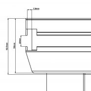 GT Stage Deck 2 x 0.5m Wood stage platform technical drawing