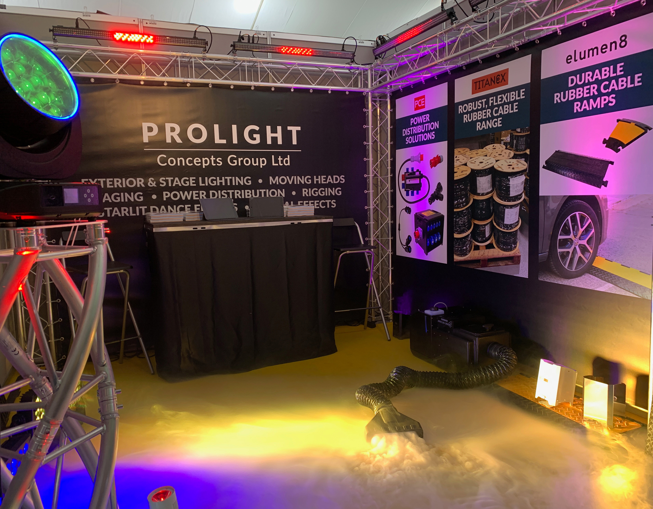 The Prolight Concepts group stand at The Showman Show
