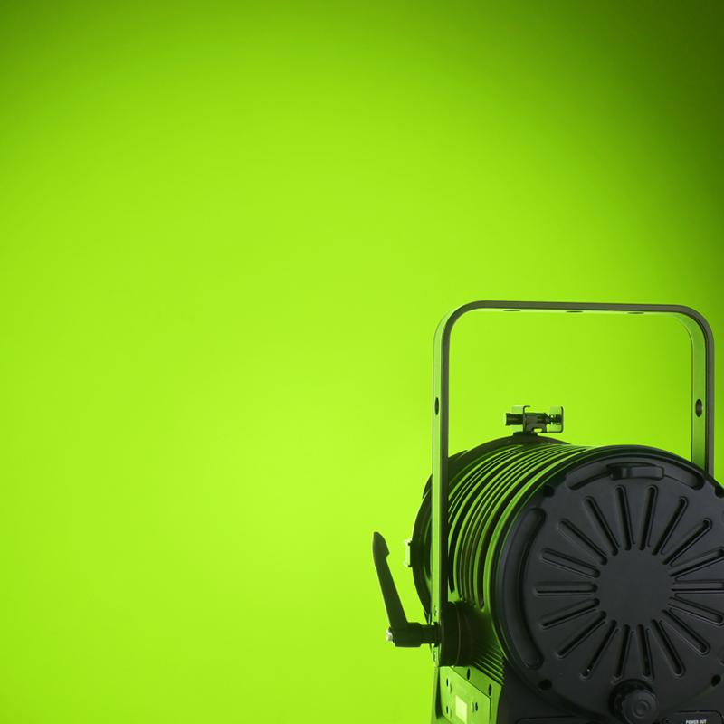 MP180 LED Fresnel RGBALC Lime Green Light Effect