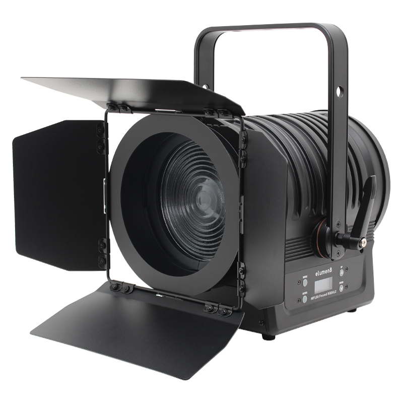 The MP180 LED Fresnel RGBALC is a Stage Lighting fixture