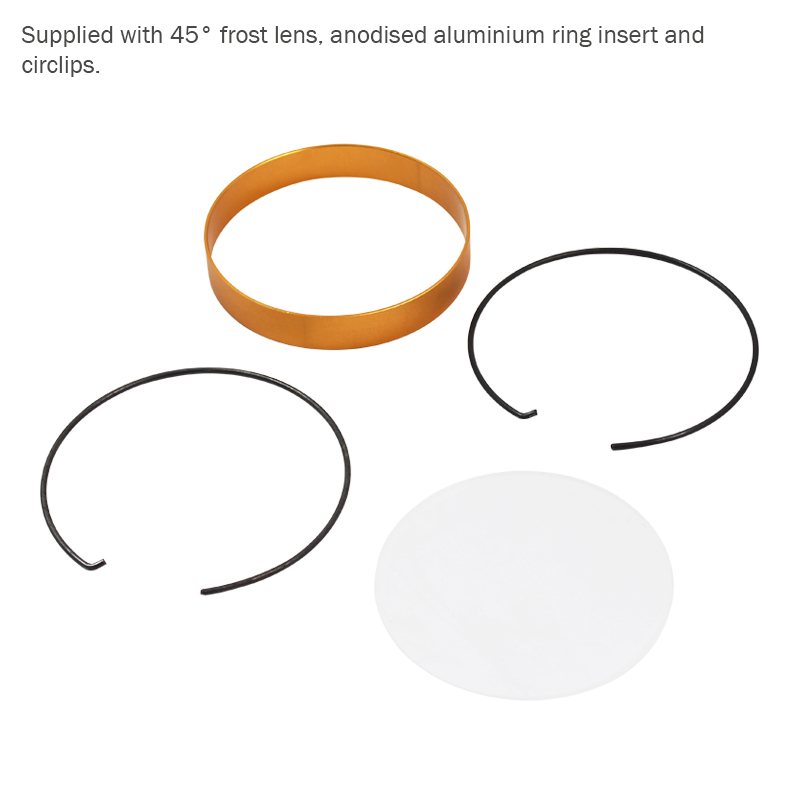 MP 15 LED Fresnel Anodised Aluminium Ring