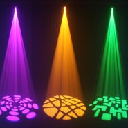 Fusion Spot MAX MKII Purple, Orange and Green Gobo Effects