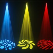 Fusion Spot MAX MKII Blue, Yellow and Red Gobo Effects