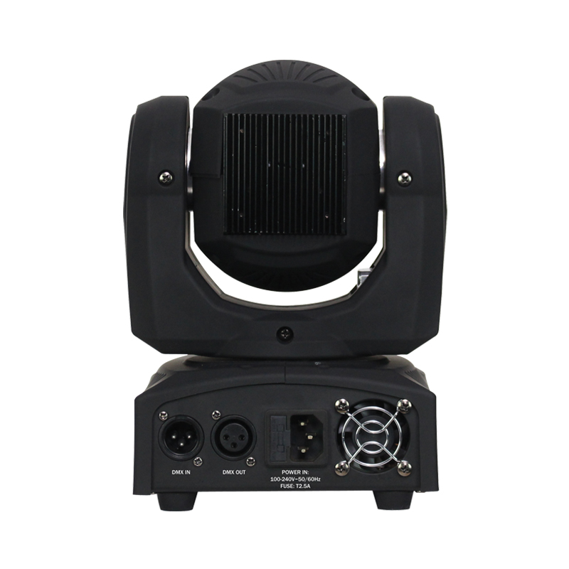 Fusion Spot MKII Moving Head Rear View showing inputs and outputs