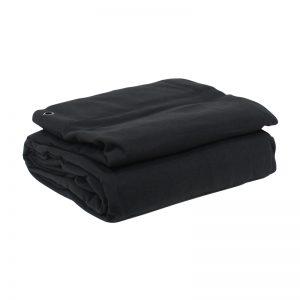 4 x 3m Black Serge Drape