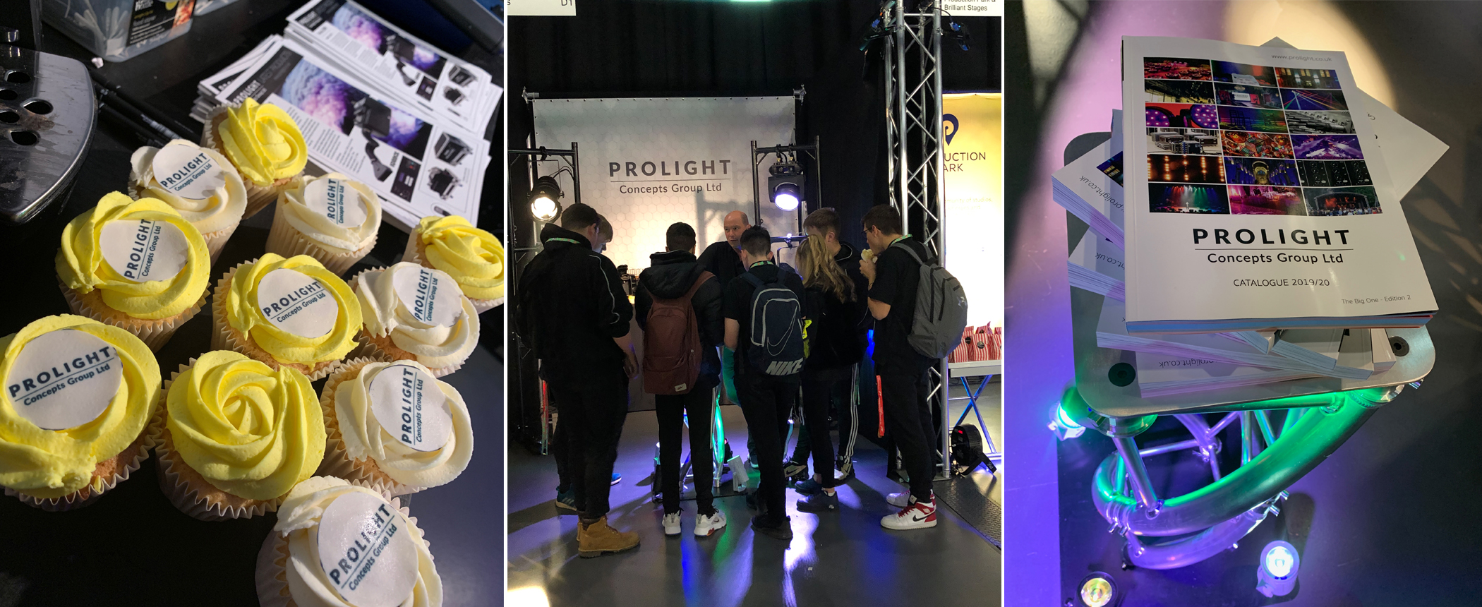 The Prolight Concepts Group Stand at Production Futures