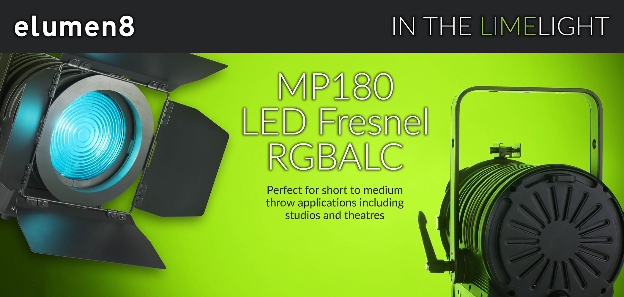 MP180 LED Fresnel RGBALC