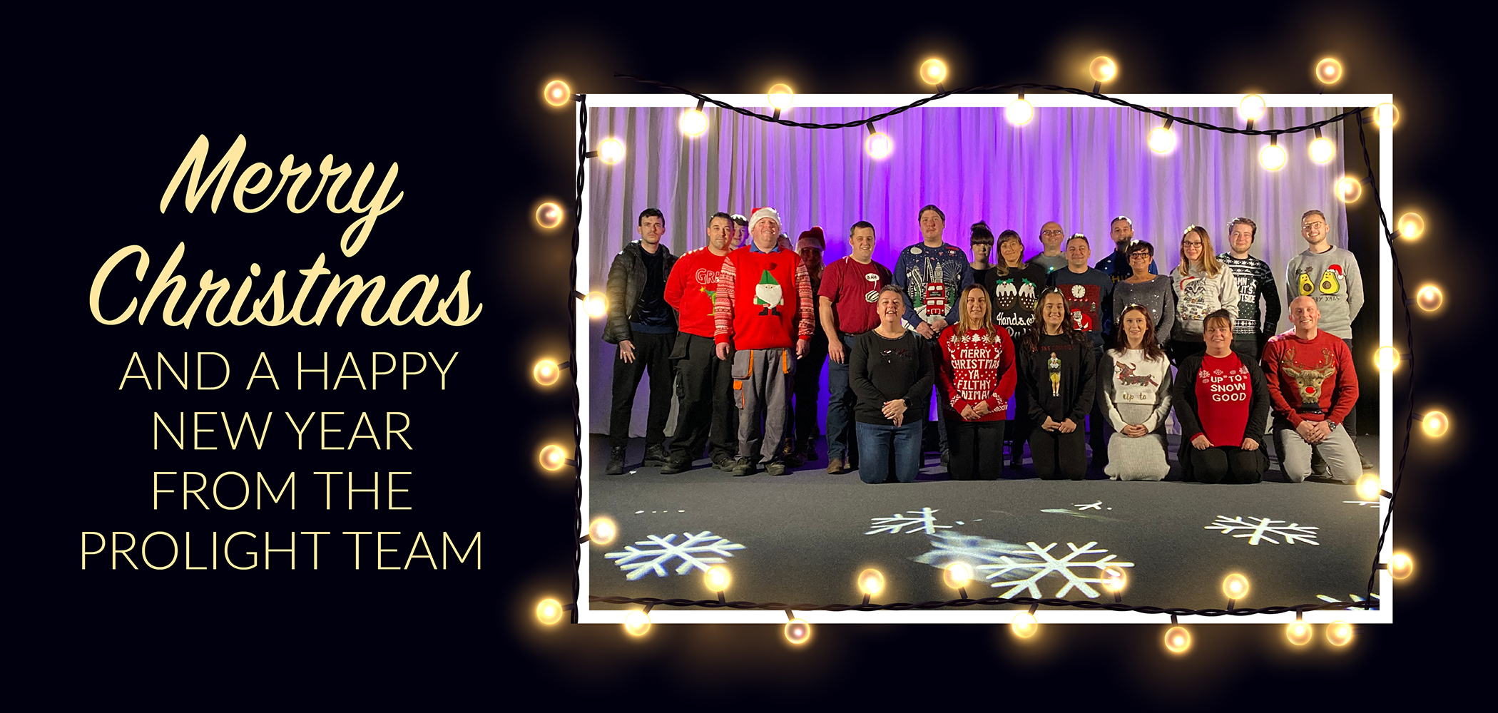 Merry Christmas from all at Prolight