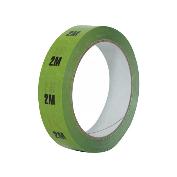 2m Light Green Cable Length ID Tape 24mm x 33m
