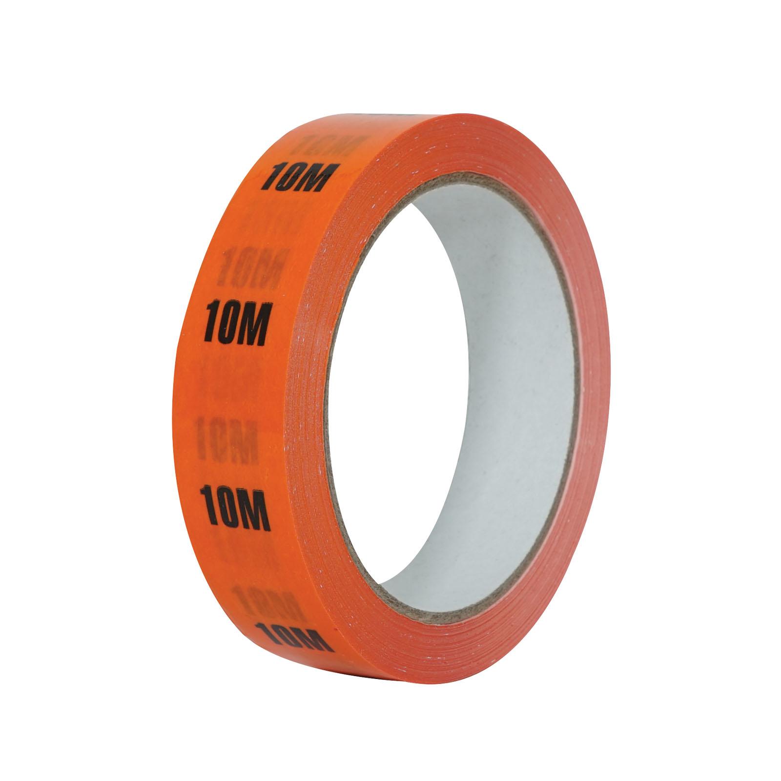 10m Orange Cable Length ID Tape 24mm x 33m