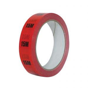 15m Red Cable Length ID Tape 24mm x 33m