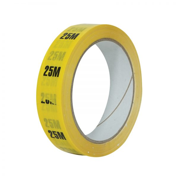 25m Yellow Cable Length ID Tape 24mm x 33m
