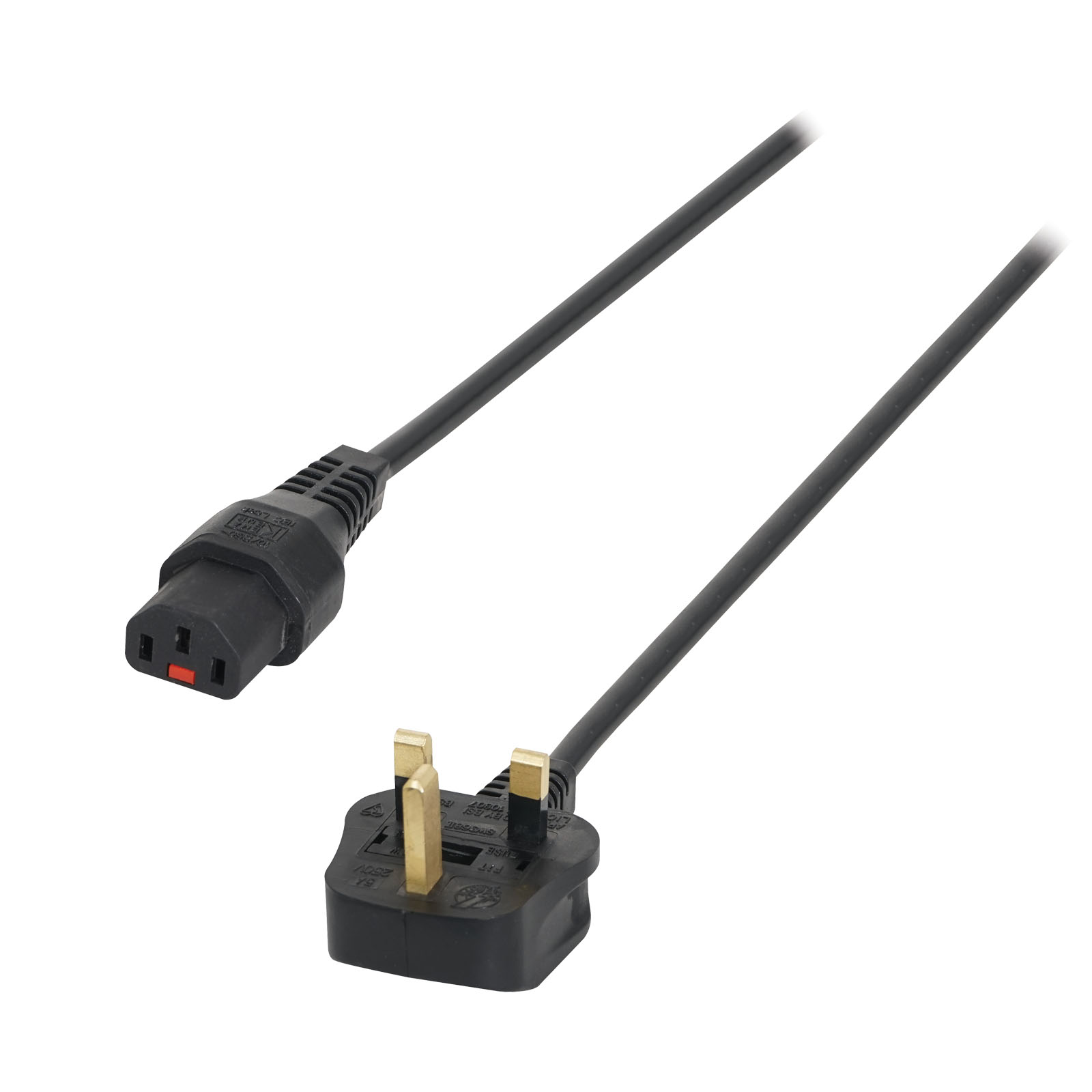 3m 13A – C13 IEC Lock Cable (5A Fuse) PC936