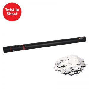 Shoot out metallic silver confetti from this 80cm tube, handheld confetti cannon.