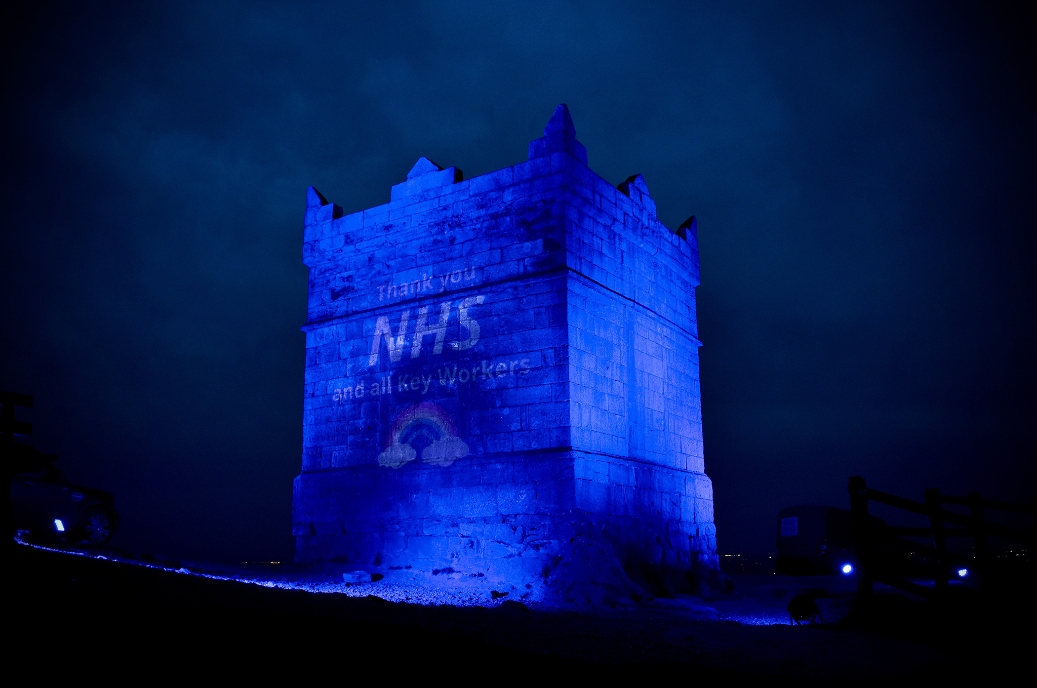 Rivington Pike Blue for NHS
